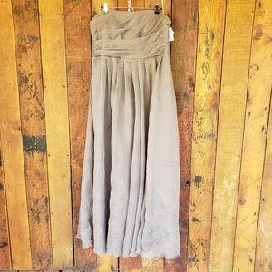 White by Vera Wang Charcoal Grey Maxi Dress